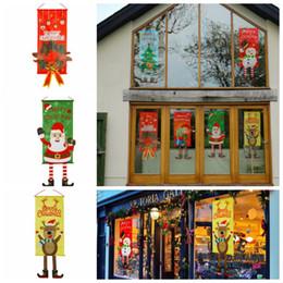 покупки в садах Скидка Рождественская елка Санта оленей висит флаг украшения торговый центр отель магазин Home Decor украшения висячие сад флаг KKA6186