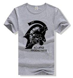 Chemises à engrenages métalliques en Ligne-2018 Coton Hommes Femmes METAL GEAR SOLID 5 Tee Phantom Pain KOJIMA T-shirt Casual Unisexe T-shirt à manches courtes Slim Hip-hop