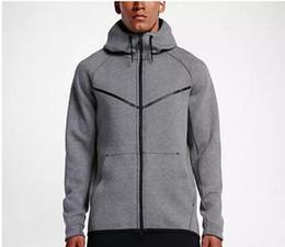 Sudaderas con capucha online-Otoño e invierno Deportes Ocio Masculino con capucha Suéter de algodón Nueva marca de moda Abrigo de hombre Talla grande L-5XL