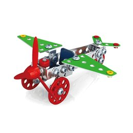 Wholesale Model Cars Building Kits - 3D Assembly Metal Engineering Vehicles Model Kits Toy Car Crane Motorcycle Truck Airplane Building Puzzles Construction Play Set