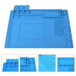 45x30 cm Aislamiento de calor Plataforma de mantenimiento de almohadilla de silicona para la estación de reparación de teléfonos BGA con sección magnética P15 desde fabricantes