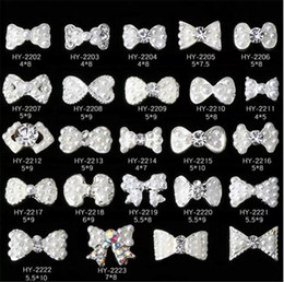 Wholesale 3d nail bows - Nail Stickers Nail Art 3D Alloy Metal Crystal Decoration Diamond Cellphone Rhinestone Glitter Charms Jewelry Crown Bow Christmas
