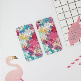 Argentina SODIAL (R) Básculas de moda Escamas 3D Estuches duros para teléfonos Squama para iPhone 6 y 6S Chicas coreanas Sirena cubierta cheap rs 3d Suministro