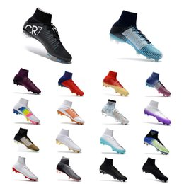 2020 mercurial ag Nuevos zapatos de fútbol de calidad superior 2018 CR7 Mercurial Superfly V AG / FG Zapatos de fútbol Hombres Clips de fútbol al aire libre rebajas mercurial ag