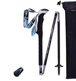 Paquet de 2 bâtons de randonnée Trekking Alpenstock pliables en fibre de carbone Quick Lock Compact pour tourisme pliant Course à pied Bâtons de marche 1 paire ? partir de fabricateur