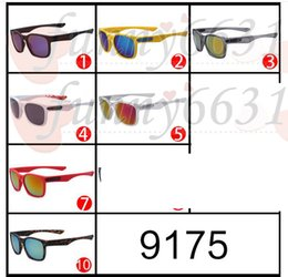 Wholesale Bicycles For Cheap - SUMMER brand man outdoors sport sunglasses Bicycle Glass 12colors cheap price uv sun glasses for woman reflective coating sun glass freeship