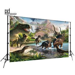 Canada Décors pour Jurassic Park World Birthday Party Photos Dinosaure Jungle Photographie Toile de Fond Photo Contexte W-818 Offre