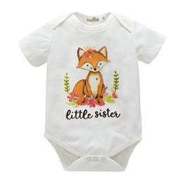 2019 camisas de hermana mayor Baby Girl Clothes Summer 2018 New Baby Clothing Infantil Niños Niñas Little Sister Romper Big Sister T-shirt Conjuntos de Ropa Familiar a Juego camisas de hermana mayor baratos