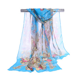 Wholesale Sheer Scarves Wholesale - new 2018 spring and autumn winter women sheer Cashew chiffon georgette soft oblong scarves women's beach scarves shawl Cachecol