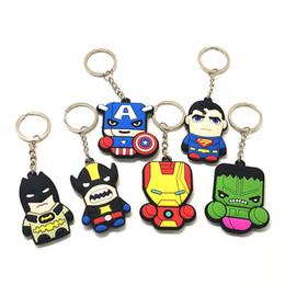 2019 модные сумки для вечеринок 1Pcs Trendy Cute Cartoon PVC  Iron Man  Key Holder Anime Key Ring Bag Pendant Key Chains Kids Party Gift дешево модные сумки для вечеринок