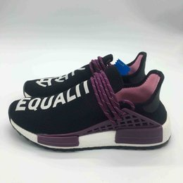 Wholesale round white coral - 2018 TOP quality Pharrell Williams Human Race Holi men and women Sports Shoes Chalk Coral Green AC7034 Size US 5-11