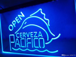 Enseignes au néon pacifico en Ligne-LA059- Cerveza Pacifico Beer OPEN Bar Neon Light Sign