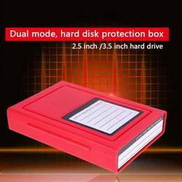 caixas de plástico hdd Desconto 2.5 / 3.5 polegadas Unidade de Armazenamento em Disco Rígido SDD HDD Caixa Protetora de Plástico para 9.5 12.5mm Caixa de Proteção do Disco Rígido HDD