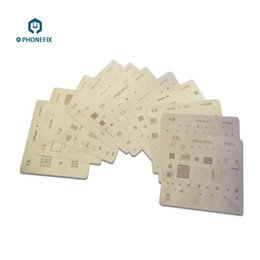Wholesale Ic Set - FIXPHONE Original 15pcs lot IC Chip BGA Reballing Stencils Kits Set Solder Template iPhone BGA Reballing Stencils for iPhone X 8 7 6 5 4
