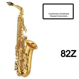 Saxophone laqué doré en Ligne-Brand New CG Japon Major Professionnel Custom Z Saxophone Alto 82Z Avec Étui Et Embouchure Or Noir Laqué