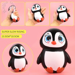 Wholesale Penguin Dolls - Cute Jumbo Squishy Cute Penguin Kawaii Animal Slow Rising Scented Vent Charms Bread Cake Kid Toy Doll Gift Fun