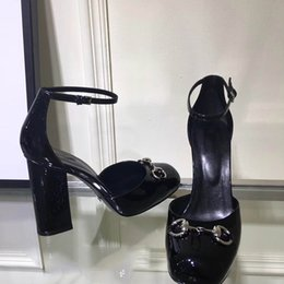 Wholesale ladies size 14 high heels - A79 2018 new style big size 35~41 Fashion Genuine Leather OL pumps Lady High Heel Shoes Top Quality party shoes  wedding sexy shoes Heels 14