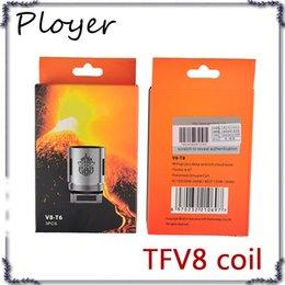 Argentina Cabeza de bobina TFV8 V8-T8 V8-T6 V8-Q4 V8-X4 V8-T10 Turbo V8 bobinas de repuesto RBA para TFV8 Cloud Beast Tank 0266101-2 Suministro