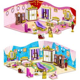 Wholesale kazi blocks - 458pcs Kazi princess series gold princess 2 IN 1 Building blocks toy gift educational toys girls blocks kids Gift for Children