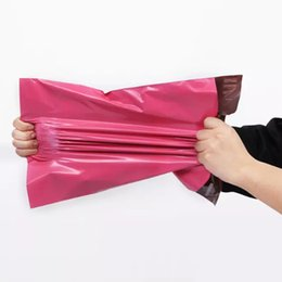 Wholesale Poly Bags 25 - 100pcs lot red Mail Bags Express Bag 25*35cm Mail Bags Envelope  Self Adhesive Seal Plastic bags pouch