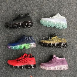 Wholesale Kids Fashion Shoes - New Arrival Childrens 2018 Vapormaxs Running Shoes Kids Fashion Oudoor Training Sports Shoes Size 11C-3Y