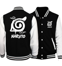 naruto uzumaki jacket Coupons - Japan Anime Naruto Uzumaki Baseball Uniform Men Sword Art Online SAO Coat Pocket Monster Jackets Black White Sportswear