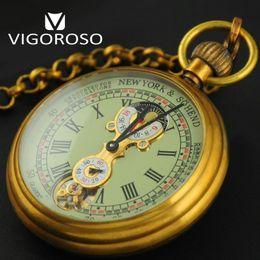 relógio de medalhão de quartzo Desconto Alta Qualidade Genuína de Cobre Puro Antigo 1882 Relógio de Bolso Mecânico Do Vintage Mão acabar fase de Lua Tourbillion Relógio de Luxo