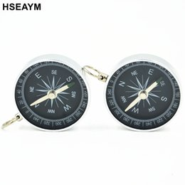 HSEAYM Metal Compass Lightweight Aluminum Survival Tool Buckle Car Camping Hiking Pointing Guide Portable Handheld Compass от