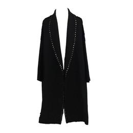 Semplice cappotto lungo donna online-Designer runway 2019 Autunno / Inverno Donna Simple Tweed Wool Maxi Oversized Long Coat Tuta sportiva femminile manteau femme abrigos mujer