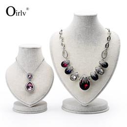 Oirlv белье манекен бюст ювелирные изделия ожерелье кулон стенд держатель для выставки Trad витрина от Поставщики выставочные стенды для выставок