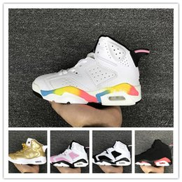 Wholesale Hot Babys - 2018 Hot sale Retros VI 6s six Kids basketball shoes for Boys Girls sneakers Children Babys running shoe Size 11C-3Y