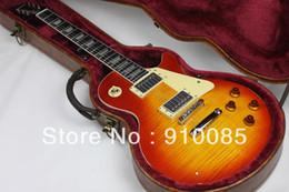2013 nouvelle arrivée G-Custom Shop cerise standard guitare électrique avec étui rigide acajou corps ébène frettes livraison gratuite ? partir de fabricateur