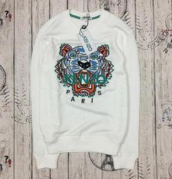 Designer De Luxe marque kenz Tiger Head Brodé Hommes Femmes Sweatshirts Coton Automne Hiver Unisexe Hoodies Streetwear Jogger Survêtements ? partir de fabricateur