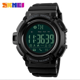 Wholesale Heart Rate Calorie Monitor - SKMEI Bluetooth Smart Watch Men Sports Watches Pedometer Calories Chronograph Fashion 50M Waterproof Digital Wristwatches 1245