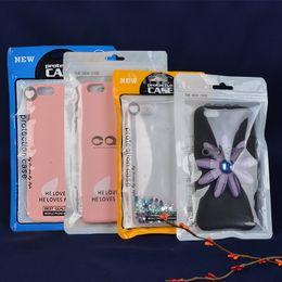 Sacos de acessórios para celular on-line-Concha do telefone móvel linha de Dados saco de embalagem de Plástico OPP pacote de embalagem de Varejo bolsa bolsa para celular Acessórios de Caso de Cabo de telefone Celular