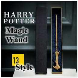 Wholesale metal wands - 13 Styles Newest Metal Core Harry Potter Magic Wand Lord Voldemort Cosplay Magical Wand Novelty Items CCA9532 20pcs