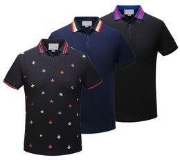 Wholesale T Shirt Design Hands - 2018 polo shirt fashion Short Sleeved animal embroidery polo t shirts men tee design printing poloshirts clothes Medusa tops 3XL