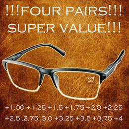 37f4189366fe6 Óculos de Leitura Anti-Fadiga de Meia Armação Preto de Alta Qualidade Óculos  +0.25 +0.75 +1.25 +1.75 +2.25 +2.5