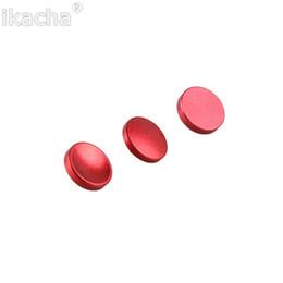 Wholesale x e1 - 3pcs Red Concave Convex Flat Release Shutter Button for Leica Fujifilm X100 x100s x10 x20 X-Pro1 m3 m6 m8 m9 x-e1 x-e2 Camera