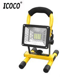 Wholesale Spotlight Holders - Portable Spotlights High Power 30W LED Projection Lamp Light Searchlights Flashing Warning Waterproof Flood with holder 2017 New