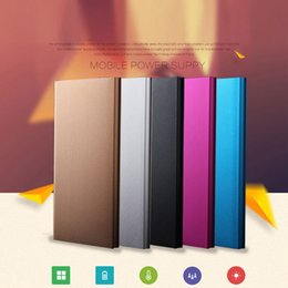Wholesale Mobile Power Shell - Portable USB Alloy Shell Mobile Cell Phone External Charging Power Bank Supply