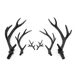 Coiffe noire en Ligne-New Simulation Black Antler Headdress DIY Accessories Material Headband Cute Christmas Decoration Photo Photography Props