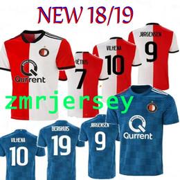 18 19 Feyenoord camisa de futebol UEFA Europa CUP camisa de futebol MEN S  casa RED blue 11 LARSSON 32 V.PERSIE 19 BERGHUIS 10 VILHENA camisa de  futebol fe21fc3bad81d
