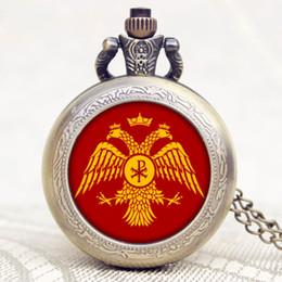 schaut russland Rabatt Vintage Pocket Watch Russland Doppeladler Design Uhren Frauen Geschenke Taschenuhr Männer