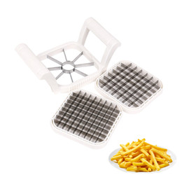 metal slicer Coupons - Stainless Steel French Fry Cutter Great Kitchen Tools Manual Potato Shredder Multifunction Vegetable Fruit Slicer