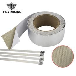 Argentina PQY RACING - Cinta de aluminio reforzada con adhesivo con refuerzo de revestimiento térmico resistente al abrigo para tubo de admisión CON 4PCS TIES PQY1612 Suministro