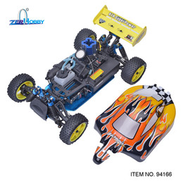 Wholesale nitro electric cars - wholesale Rc Racing Car 1 10 Scale Nitro Gas Power 4wd Two Speed Off Road Buggy 94166 Backwash High Speed Hobby Rc Remote Control Car