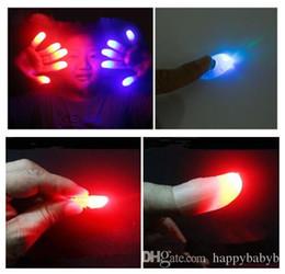 collegare l'altoparlante Sconti Divertente Magic Light-Up Thumbs LED Luce lampeggiante Dita Trucchi magici Puntelli Bagliore stupefacente Giocattoli per bambini Regali luminosi per bambini