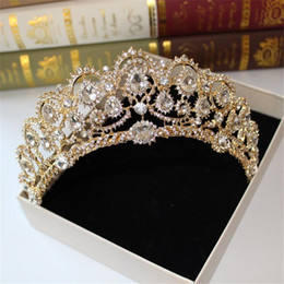 Göttin haar online-Baroque Crystal Crown 2018 Greek goddess art retro hair accessories bridal wedding jewelry wedding dress studio tiara crown molding
