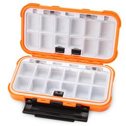 Ganchos pequeños señuelos online-Caja de almacenamiento con 24 compartimentos Caja de señuelos Caja de plástico Señuelos de pesca Cuchara Gancho Cebo Caja de aparejos Accesorios pequeños Anzuelo cuadrado